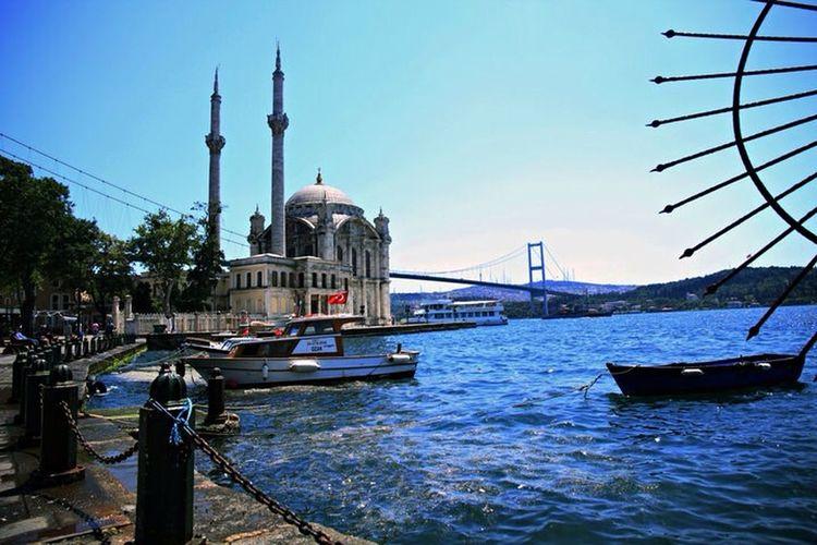 Turkey Istanbul Ortaköy Ortaköy Mosque Sea Bosphorus Traveling