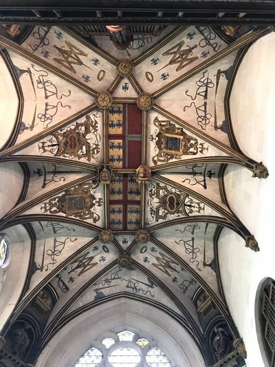 Architecture Arch Low Angle View Religion Indoors  Place Of Worship Built Structure Ceiling Fresco No People Day Pattern Spirituality Close-up Building Exterior Castle Château D'Écouen Château Decoration Decoration Déco Déco