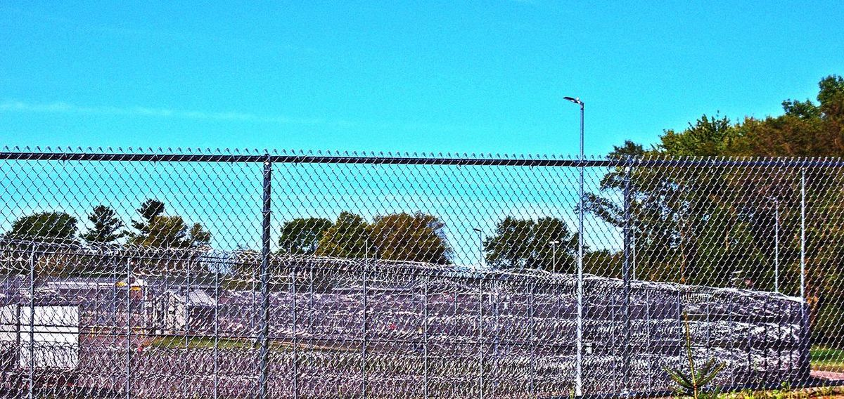 Razorwire Prison Outside The Fence Depressing No Escape Time To Reflect Time For Change