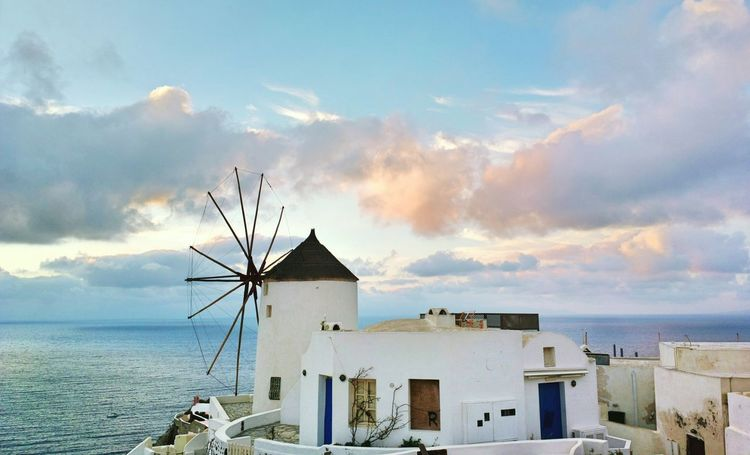 || Nature Theories || Santorini, Greece. TheFoneFanatic Nokia  Nokia808 Vacations Mobilephotography PhonePhotography Scenics Colorful Seascape Rural Scene Traditional Windmill Windmill Sea Sunset Whitewashed Tranquil Scene