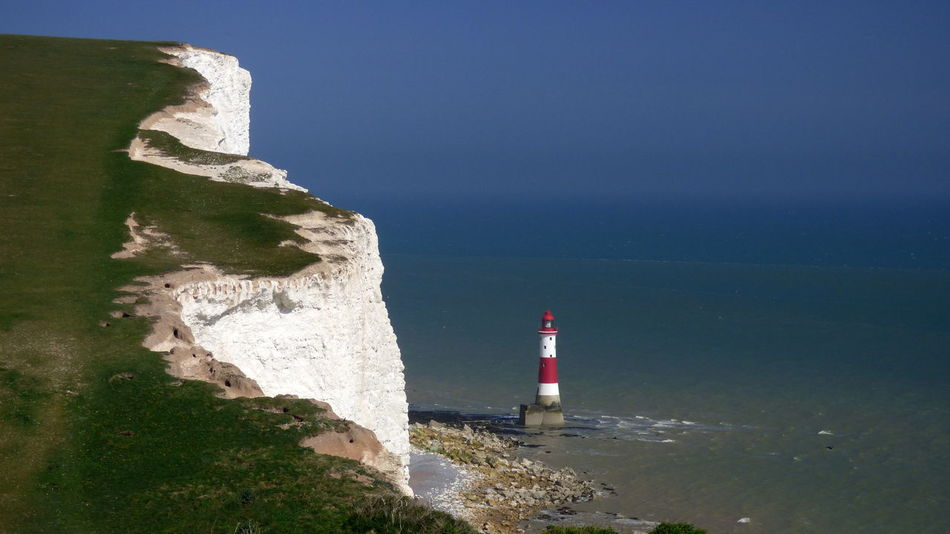 Beachy Head Lighthouse Beachy Head Beachy Head Lighthous Blackandwhite Blue Built Structure Cliff Coastline Day English Channel Horizon Over Water Lighthouse No People Ocean Outdoors Red And White Rock Scenics Sea Sky Stripes Everywhere Water