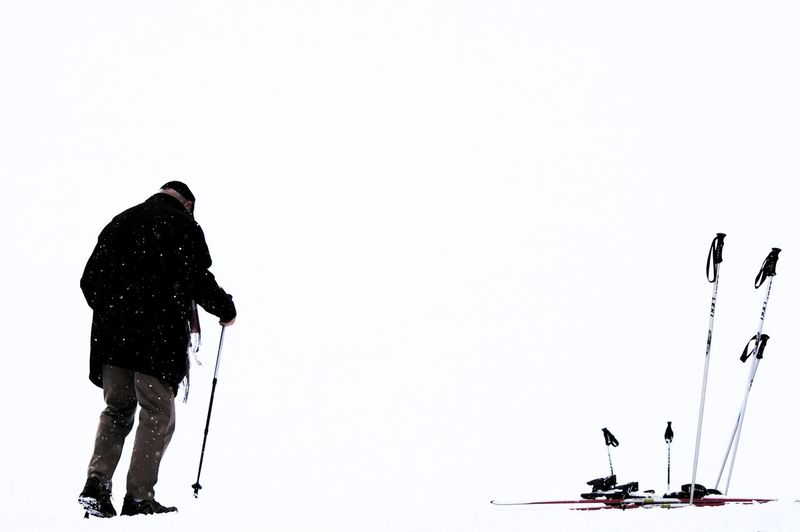 Man People Showcase March Ski Walking White White Background Winter Wintertime Snow The Week On Eyem