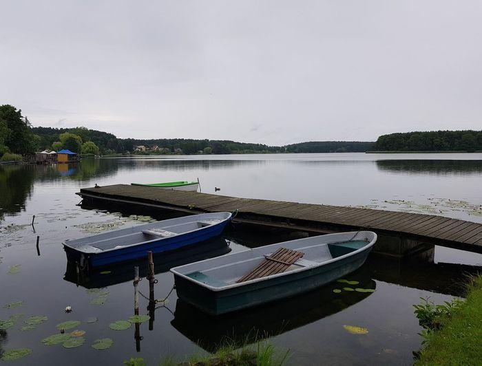 Lychen Lychenersee Uckermark Nature Photography Nature Water Lake Reflection Tranquility Standing Water Nautical Vessel