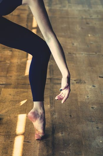 Low Section Of Dancer On Floor