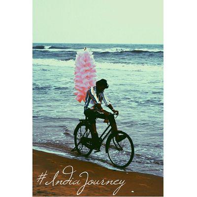 C O T T O N C A N D Y IndiaJourney Cottoncandy India Pondicherry Paradise Beach Incredibleindia India Fun