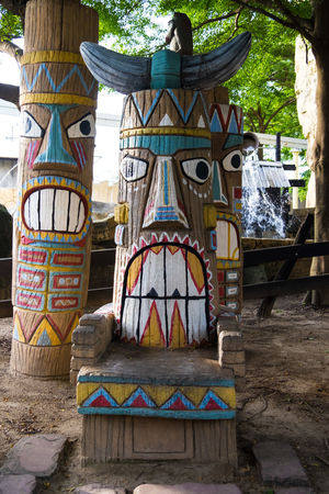 Chief Tribal Chair art Chair Chairs And Tables Childhood Day No People Outdoors Tribal Tribal Art Tribals Wild Nature Wood - Material