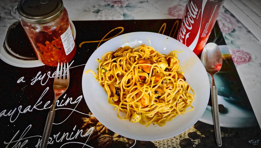 Bami Goreng Bamigoreng Cooked Culture Food Food And Drink Freshness Healthy Eating Meal Noodles Nudles Selfmade Serving Size Spaghetti