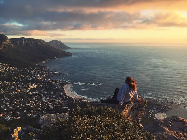 Lionshead view Sea Horizon Over Water Sky Water Nature Scenics Sunset Beauty In Nature Cloud - Sky Idyllic Rock - Object Followme EyeEmNewHere EyeEm Gallery EyeEm Best Shots - Landscape Tranquil Scene Beach Tranquility Women Togetherness Real People Full Length Outdoors Cape Town Lions Head Be. Ready.