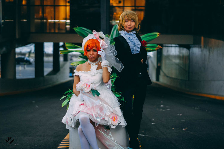 anime Cosplay Young Women Bridegroom Bride Actor Wedding Stage Costume Wedding Vows Wedding Ceremony Groom Clown Wedding Dress Wedding Guest Henna Tattoo Wedding Ring