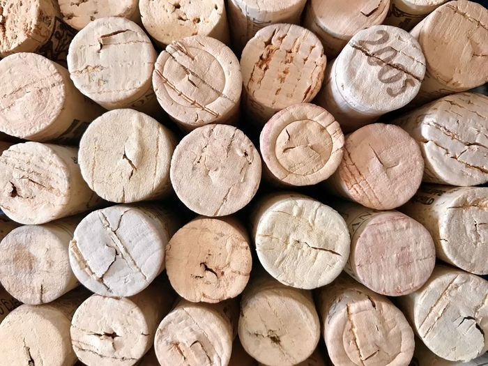 Full Frame Shot Of Wine Crocks