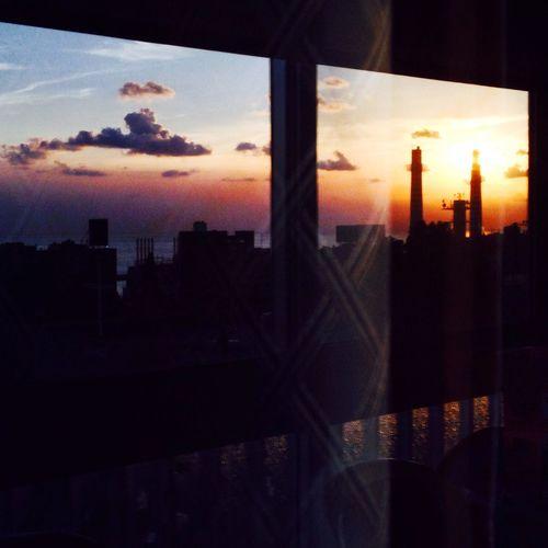 Reflection lebanon sunset