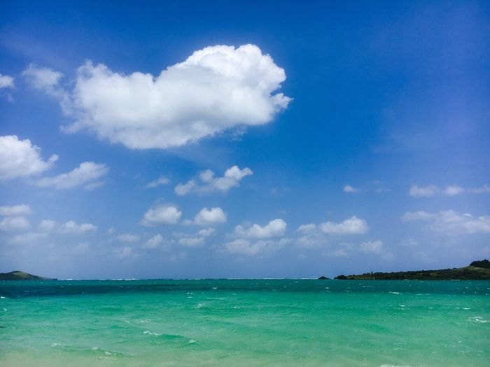 Cloudy blue sky over blue-green sea! Seascape Blue-green Sea Cloudy Blue Sky Survivor Caramoan Survivor Island Caramoan Island, Camarines Sur Caramoan Sky Water Sea Cloud - Sky Scenics - Nature Beauty In Nature Land Travel Destinations Vacations Horizon Over Water