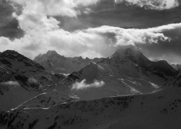 Taking Photos Light And Shadow Winter Mountain View Alps Black & White Blackandwhite Monochrome Photography Austria