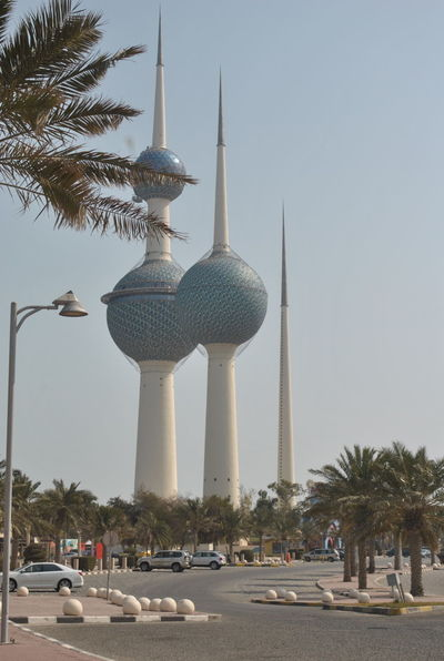 Kuwait towers on Gulf Road Kuwait City Kuwait Towers Architecture Building Exterior City Communication Outdoors Tall - High Travel Destinations