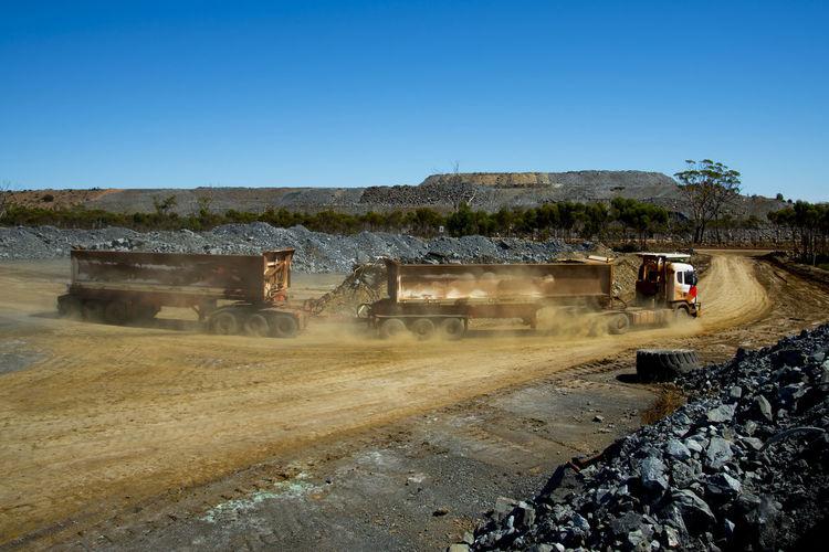 Mine Ore Transport on Road Train Mining Road Train Mine Rock Nickel