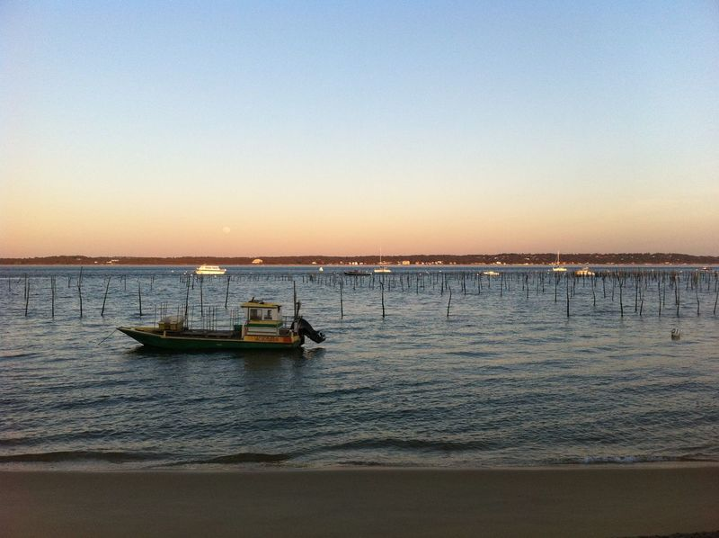 Arcachon Bay Bay Area Boat Boats Boats⛵️ Cap Ferret Dusk Dusk Colours Dusk Sky Landscape_Collection Landscapes Oyster Bay Pinasse Scenics Sea Sky Sunset Tranquil Scene Travel Destinations Water