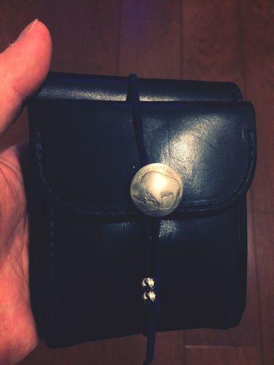 紐とビーズをカスタム★ 財布 Goros Leather