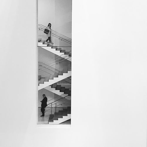 Moma Staircase Blackandwhite Contrast Lines Shades Geometric Shape