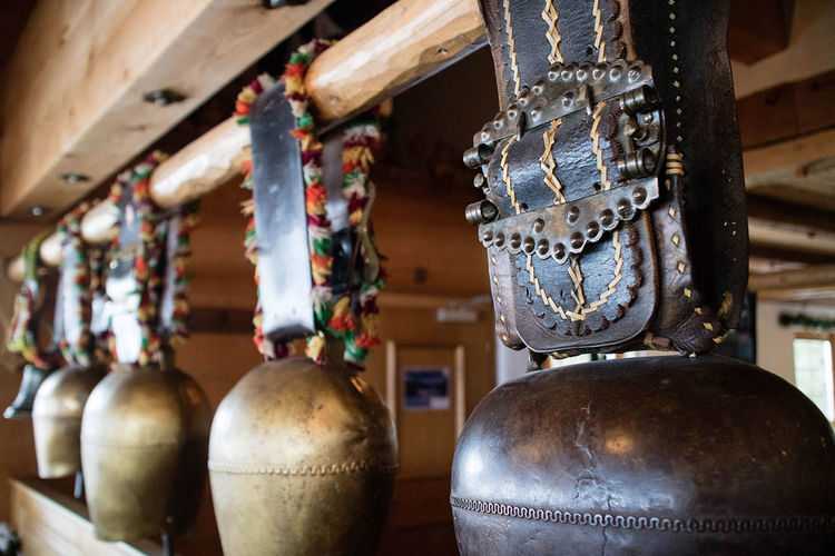 Old Cowbells Alm Alps Cow Cowbell Cowbells Decoration Indoors  Switzerland Tradition Wood