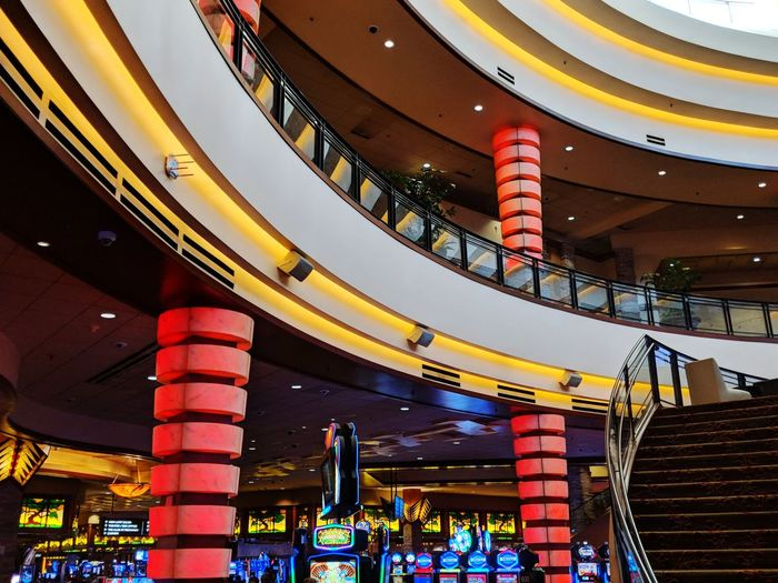 casino interior and staircase Indoors  Indoor Photography Taking Photos Eyeem Photography Resort Pechanga Casino Slot Machine Gambling Neon Lights And Colors Building Interior Arts Culture And Entertainment Multi Colored Architecture Built Structure Game Of Chance Luck Creative Space The Architect - 2018 EyeEm Awards