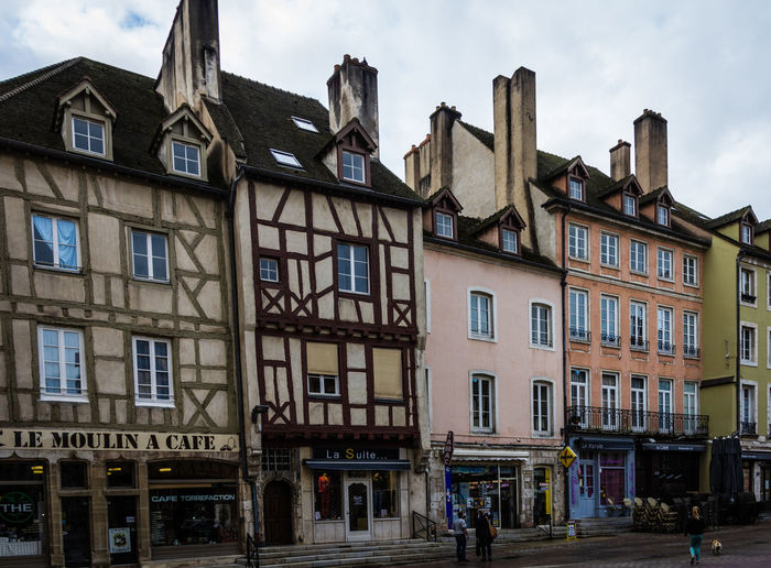 Burgundy-Saone Chalon-sur-Saône Europe Trip France Timbered Buildings Architecture Building Exterior Built Structure City Day Medieval Architecture Outdoors Residential Building Sky Street Scene Window