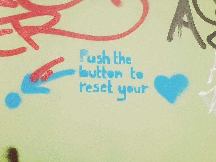 Push the button to reset the <3