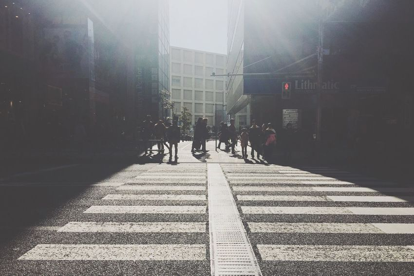 Tokyo Commuters Blues Zebra Crossing Streetphotography Light And Shadow Backlight