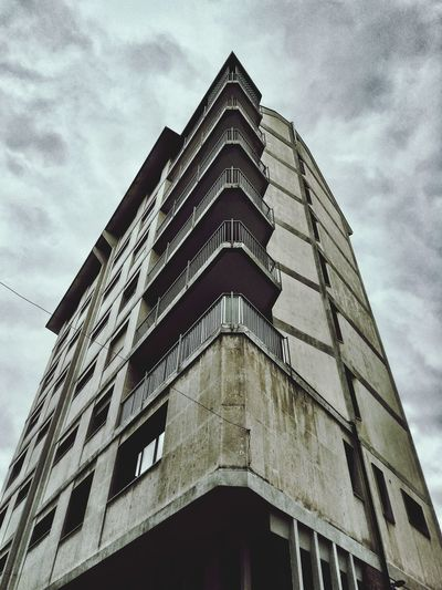 Architecture Building Exterior Low Angle View Sky Built Structure No People Cloud - Sky Day Outdoors Urban Concrete Living House Façade Industrial Design Grey The Architect - 2017 EyeEm Awards Neighborhood Map