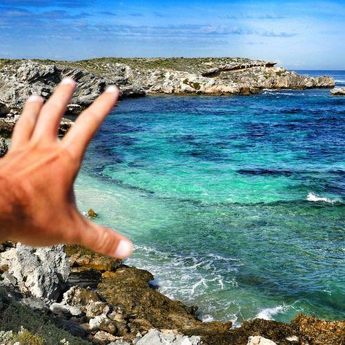 I Want to take this Moment with me. ☺🌞🏄😍🌊🌎💓🌍🌏☝😚 Rottnestisland Perth australiagram aussie bay sea cliffs waves traveling travel travelgram aroundtheworld beach happy fun friends crystalwater warrenjc instagood