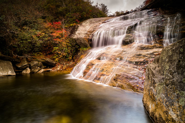 Water Waterfall Long Exposure Scenics - Nature Motion Rock Tree Rock - Object Beauty In Nature Forest Flowing Water Blurred Motion Solid Nature Land No People Plant Environment Day Outdoors Flowing Power In Nature Stream - Flowing Water Rainforest