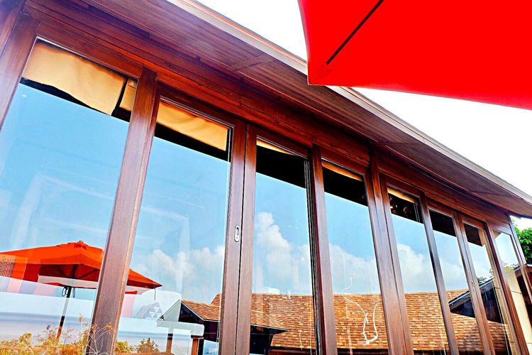 Light And Reflection Sky Red No People Low Angle View Built Structure Architecture Outdoors Day Nature Lipe Island Serendipity Resort South Of Thailand Sunrise Relaxation Balcony View Hatyai,Thailand