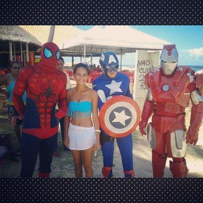 Os super Heróis *--* Homemaranha Homemdeferro Capit ãoAmérica *---* Perfeitos '-'