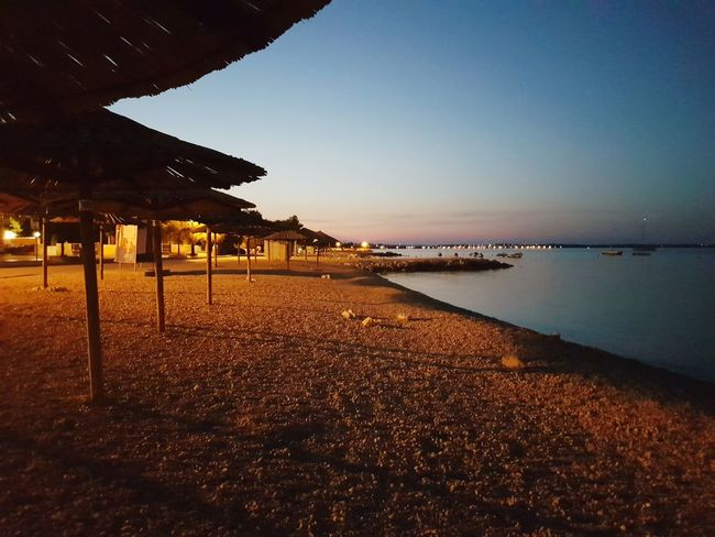 Beach Sea Sunrise Vir Croatia Dalmatia Travel Destinations Horizon Over Water Beauty In Nature No People Croatia ❤ Sky Night Beach