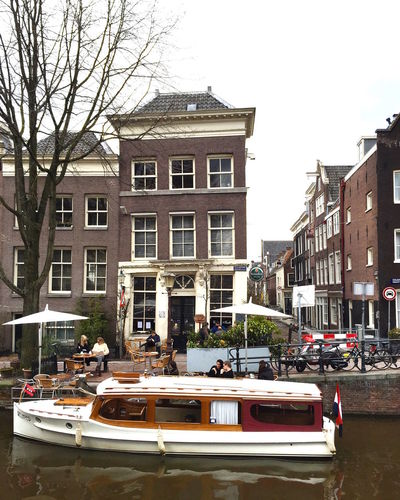 Amsterdam Amsterdam Canal Amsterdamcity Amsterdamse Grachten Architecture Boat Building Exterior Canals Canals And Waterways City City Life Cityscape Cityscapes Day Houseboat Houseboats In Amsterdam Outdoors