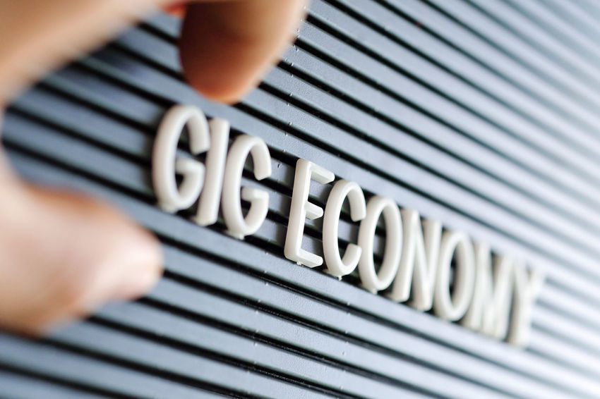 Gig Economy concept background Alphabet Alphabetography Business Economy Gig Economy Text Alphabet Art Alphabets Alphabets And Numbers Business Concept Business Finance And Industry Close-up Day Human Body Part Human Hand Indoors  One Person People