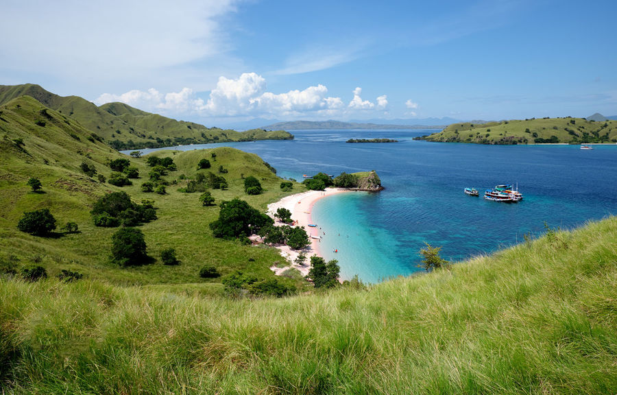 ASIA Cruise Ship Ende INDONESIA Pink Beach Vacations Views Beauty In Nature Flores Grass Green Color Komodo Komodo Island Komodo National Park Labuanbajo Landscape Muti Colored Nature No People Non-urban Scene Outdoors Scenics - Nature Tranquil Scene Transportation Travel Destinations