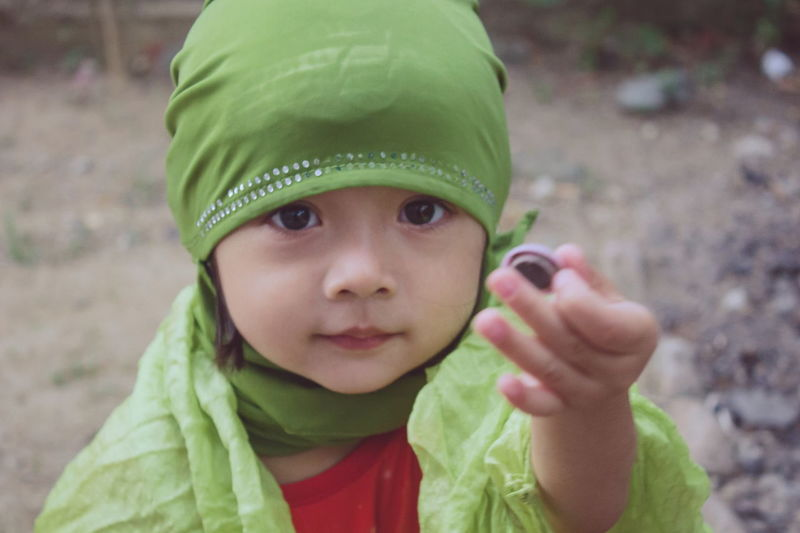 Child Childhood Portrait Looking At Camera Headshot Children Only Close-up Cute People Smiling Girls Togetherness Day Outdoors Hijabfashion Hijabbeauty Hijabstyle  Hijab Portrait Of A Woman Portrait Photography Portraits One Person Fashion Stories Inner Power The Portraitist - 2018 EyeEm Awards