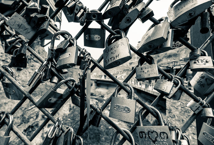 Secrets of Tbilisi Locks Abundance Backgrounds Bridge - Man Made Structure Close-up Day Full Frame Hope Large Group Of Objects Lock Locks Of Love Love Lock Metal No People Outdoors Padlock Protection Safety Security Travel Destinations