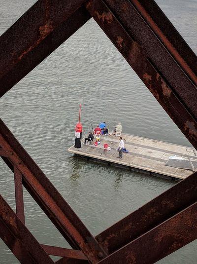23 January 2018, 04:05 AEST Fishing River Bridge Water Catch Of Fish Fisherman