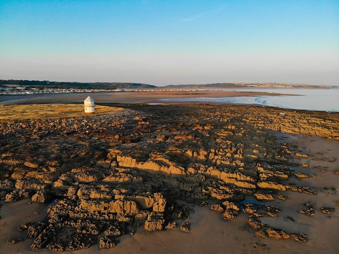 South Wales Coast Coastline Rocks And Sky Blue Sky Dronephotography Drone View Porthcawl Water Sea Sky Beach Land Beauty In Nature Scenics - Nature Tranquility Horizon Over Water Nature