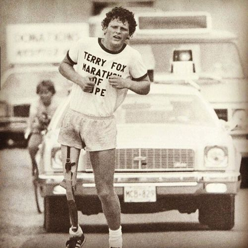 TerryFox Marathon Of Hope run for something cancer research 1980 Canada faith humanity