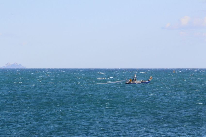 Bateau Horizon France🇫🇷 Mer Ciel Carro Bateau De Pêche Filets Nature Outdoors