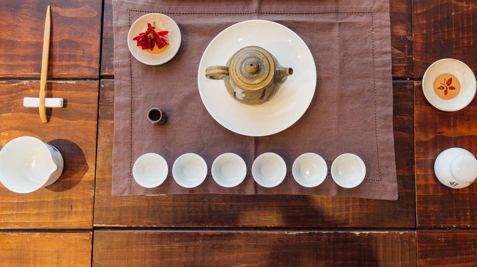 Chinese Tea Ceremony Breakfast Chinaware Chinese Close-up Day Drink Food And Drink Healthy Eating Indoors  No People Po River Porcelain  Pot Table Tea Tea Ceremony Tea Cup Wood - Material