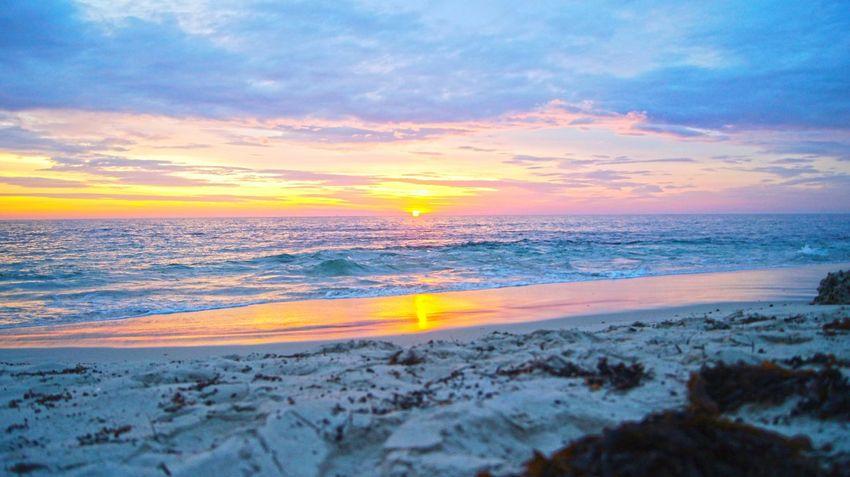 Summer Beach Waves Seaside Sunset Fireysky Australia Ocean White Sand Nature Photography Nature_collection Skyporn Beach Photography Beach LoverWestern Australia WA Perth Burns Beach Showcase: February Colour Of Life