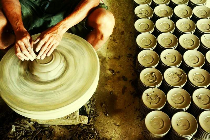 Pottery Artistic Human Activity ArtWork Human Finger Color Photography Creativity Hand Made Bowl Activities Art And Craft