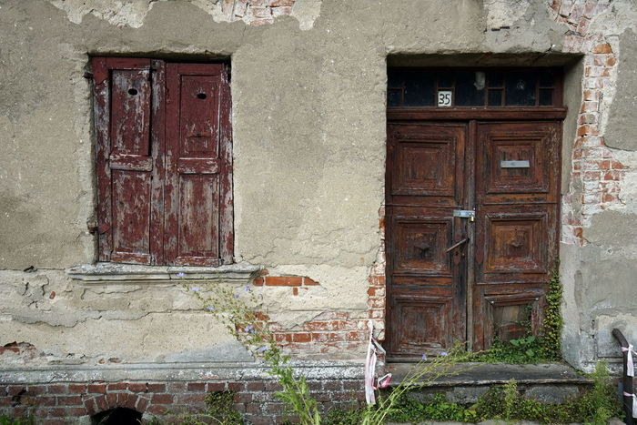 Abandoned Architecture Building Exterior Built Structure Close-up Closed Closed Door Day Door Doorway Entrance House No People Open Door Outdoors Weathered Wood - Material