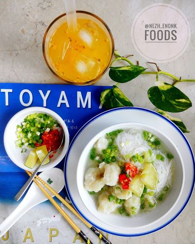 Lunch Homemade Healthy Eating Freshness Bowl Food And Drink Plate Food Table Indoors  Foodie Foodlover Enjoy A Meal Serving Size Ready-to-eat ShareTheMeal Passion Fruit Ice Fishball Soup