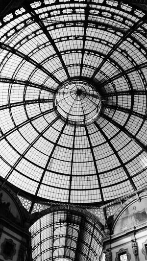 Ceiling Architecture Built Structure Low Angle View Indoors  Pattern No People Skylight Day Shopping Mall Dome Modern Architectural Design galleria duomo