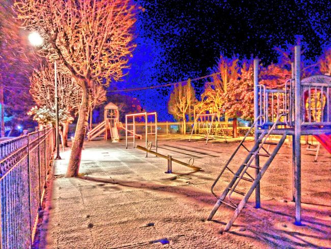 Snow Playground Greece Colors