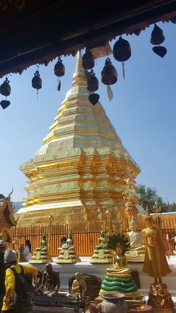 Doi Suthep,Chiangmai Architecture Built Structure Day EyeEm Best Shots Gold Gold Colored Low Angle View No People Outdoors Pagoda Place Of Worship Religion Sky Spirituality